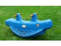 Little Tikes blue whale seesaw for sale. £5.