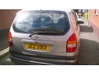 2001 Opel Zafira 1.8,MOT'd to 24/7/17. 7 seater for repair or parts