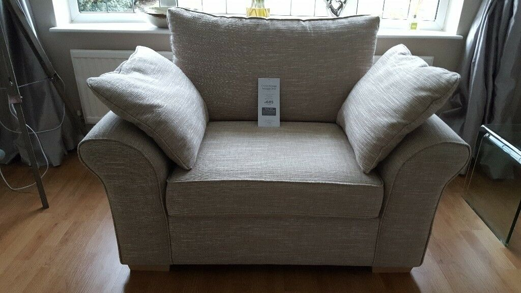 Next Garda Snuggle Chair With Storage Boucle Weave In