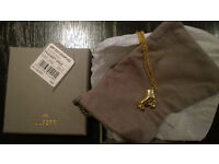 Brand New Mulberry Gold Roller Skate Necklace