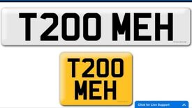 T200 MEH private cherished personalised personal registration plate number