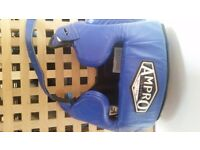 Boys Ampro Boxing Headguard - Blue