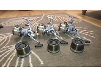 DAIWA EMBLEM X5000T x3 with spare spools. Sold as a three or seperately