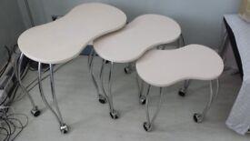 Stylish Coffee Table on Wheels x 3