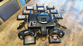 Sega MegaDrive Mk1 Bundle With 10 Games & 2 Controllers Mega Bomberman NBA JAM TAZ T2 Golden Axe