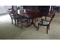 dining table extending plus 6 chairs