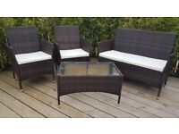 *SOLD* Garden Furniture Rattan Table and Chairs