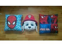 Spiderman / paw patrol Marshall children's pillow