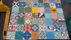 Handmade Moroccan tiles for walls and floors. Made in Marrakech sold worldwide. Patchwork or repeat.
