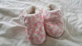 Girls slippers size 9