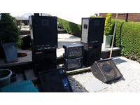 Band gear / Speakers and amplifiers leads etc.
