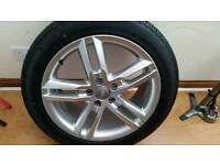 "Audi S Line 18"" Alloy Wheel And Bridgestone Tyre 245 x 45 x 18 with 7.5 mm tread"