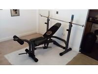 Golds gym weight bench and rack