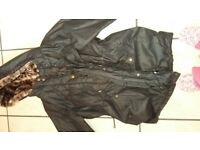 Wax parka coat
