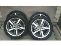 Mark 4 Golf Alloys 2 tyres As New & 2 legal 30% (225/45/17)