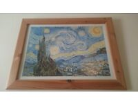 Large Van Gogh picture and frame