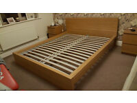Ikea Malm Oak king size bed frame , perfect condition