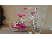 White and Pink Bicycle for Girl Aged 3-5