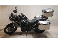 2017 Triumph Tiger 800 XRx - great condition - low mileage - with full aluminium luggage set