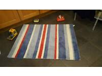Laura Ashley blue, red and white rug