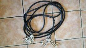 6 metre 8 way Jack cable