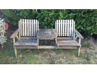Nice double chair and table vintage garden furniture