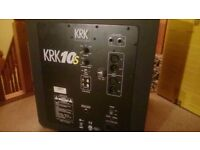 2 × krk 6s + 1 ×krk 10s sub woofer. Barely used. Full working order. Cables included.