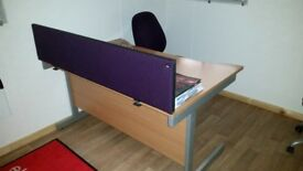 HIgh Quality Beach Office Desks with Dividers for sale with Metal Legs Proper Commercial Desks