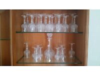 Various Sets of Crystal Glassware & Decanter & Bell plus other various glassware
