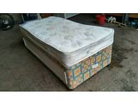 Single Divan Bed with Storage Underneath
