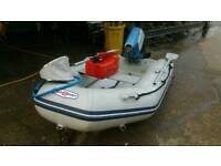 Sunsport inflatable boat and 7.5hp Suzuki great package
