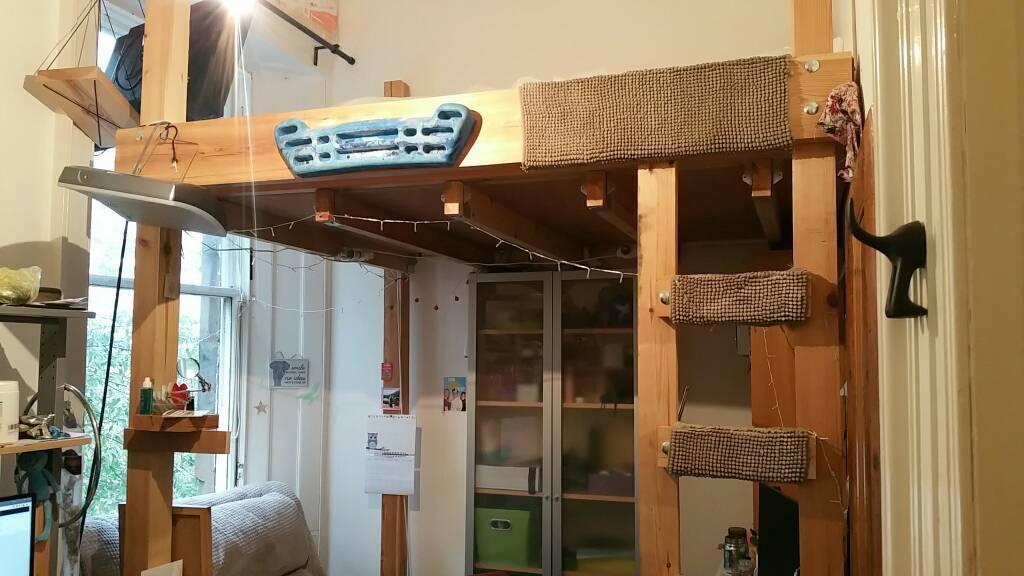 Loft bed, Custom built, Free standing