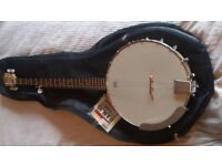 Epiphone Banjo 5-string Open-back with Carrier bag and new strings