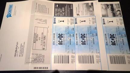 AC-DC tickets, Brisbane 12 November, 3 seats together Kallangur Pine Rivers Area Preview