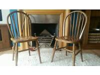 Wooden Chairs (x2)