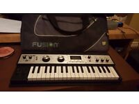 Korg microkorg XL with Fusion gig bag and original box.