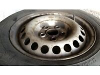 VW T5 Transporter wheel with tyre 16inch, good tread depth and ideal spare.