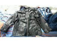 Genuine leather kit jacket, Large
