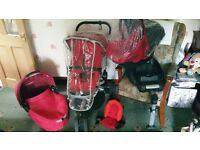 Red quinny buzz 3 travel system