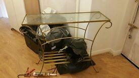 Glass vanity side table for bedroom living room