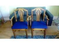Newly recovered dining chairs x 2