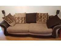 Two large 3-seater DFS sofas for sale
