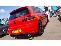 Golf Gti 2010 Tornado Red Milltek Edition 35 k and n sequential mirror indicators mint condition