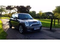 MINI COOPER S 56PLATE 2006 6SPEED 99000 MILES SERVICE HISTORY METALIC GREY HALF LEATHER AC ALLOYS
