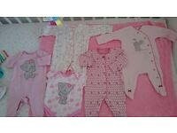 Baby girl clothes bundle -first size,up to 1 month
