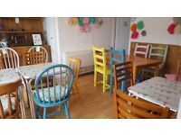 Cafe Furniture 5 shabby chic cafe tables and 23 chairs