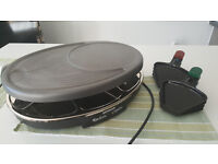 Raclette-Grill-Crepes Severin : 8 pans