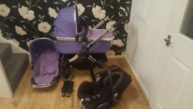 Icandy peach 2 travel system in ultra violet