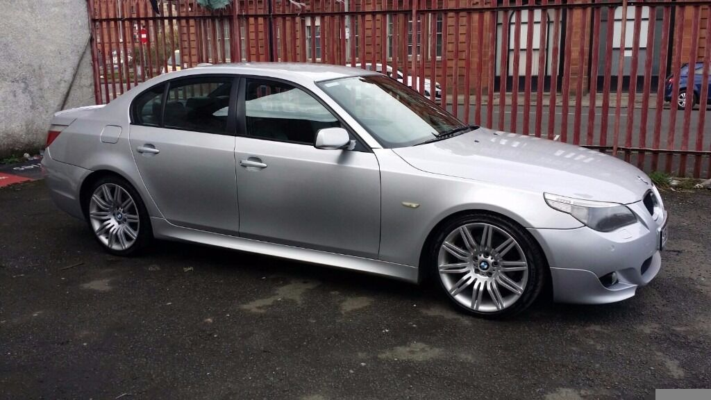 bmw 530d m sport e60 2005 auto nav silver leather in southside glasgow gumtree. Black Bedroom Furniture Sets. Home Design Ideas