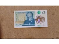 New polymer £5 note with begining number AA
